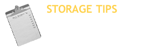 Storage Tips in Fond du Lac WI
